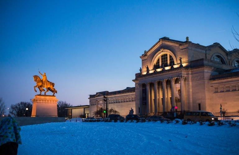 Saint Louis Art Museum in winter